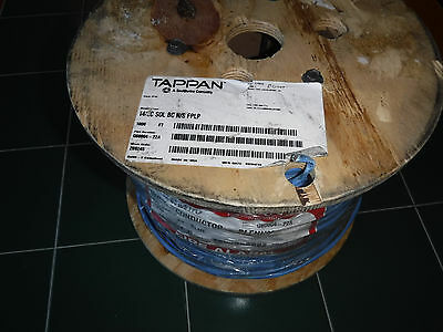 New 1000' Solid Blue 14/2 Fire Alarm Cable Fplp Cl3P Tappan G60004-22A Usa