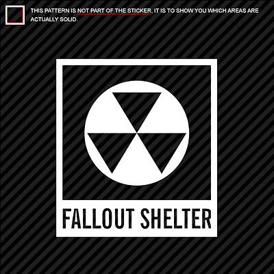 (2x) Fallout Shelter Symbol Sticker Die Cut Nuclear Radiation many colors