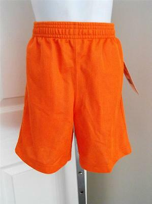 NEW Orange Mesh Collegiate Kids Small (4) Shorts by Dennys 59XS