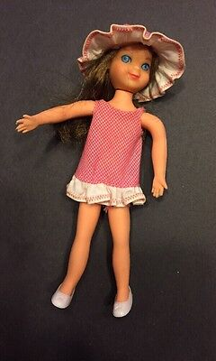 Vintage 1965 Mattel Barbie TUTTI DOLL #3550 w/pink outfit, hat & white shoes