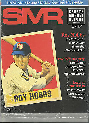 SPORTS MARKET REPORT, PSA PRICE GUIDE, March 2017 - Roy Hobbs