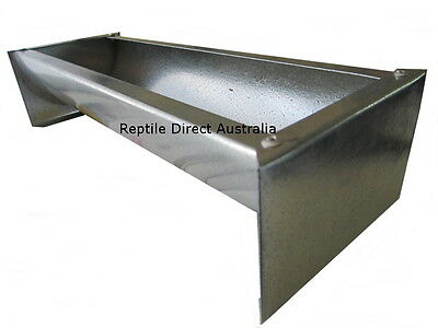 Galvanised Trough Feeder 15, 30, 45cm bird chicken poultry chook animal water