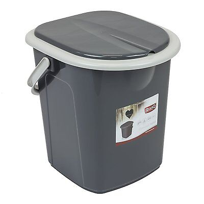 Branq 22 litre Portable Camping Festival Toilet Bucket with Seat Detachable Lid