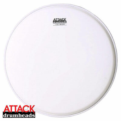"Attack Terry Bozzio 14"" Coated MediumTop Dot Snare Drum Head Skin RRP $44.95!!!"