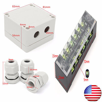 Waterproof Enclosure Electrical Junction Box Connector PG9 Terminal Cable Case