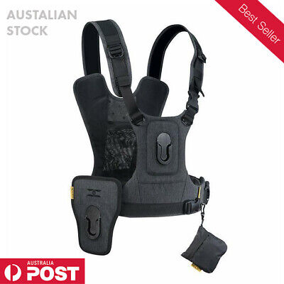 Cotton Carrier Camera Harness Vest with side holster CCS G3 Grey Harness NEW