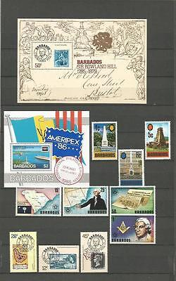 BARBADOS NICE SELECTION MNH ** STAMPS & BLOCKS (2 Scans) //