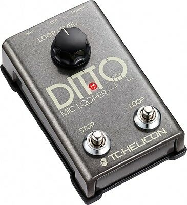 TC Helicon Ditto Mic Looper Guitar Effects Pedal