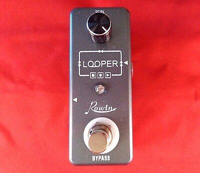 Rowin Looper Gtr Effects Pedal True By-Pass-Usb Cable-Software-10 Mins Recording