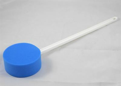 Long Handled Blue Round Bath Sponge on a Stick disability bathing aid