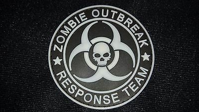 New Zombie Outbreak Response Team Skull Glow Pvc Tactical Patch Hook Aus Seller