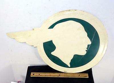 Vintage Advertisement For Pontiac Car Dealership Indian Chief Head Sign !