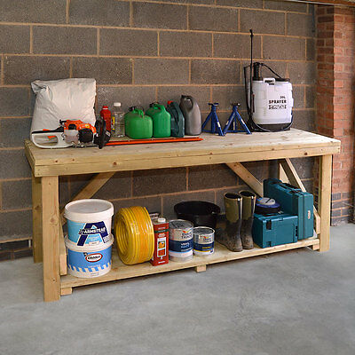 Wooden Work Bench - Heavy Duty - Hand Made In The UK