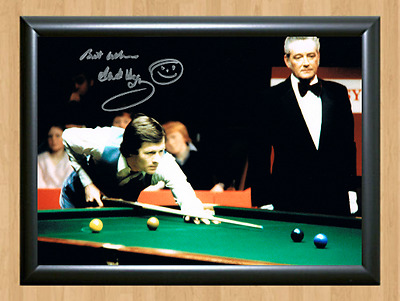 Alex Higgins Snooker Master Signed Autographed A4 Poster Photo Print Memorabilia