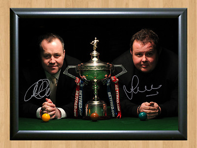 John Higgins vs Stephen Lee Signed Autographed A4 Poster Photo Print Memorabilia