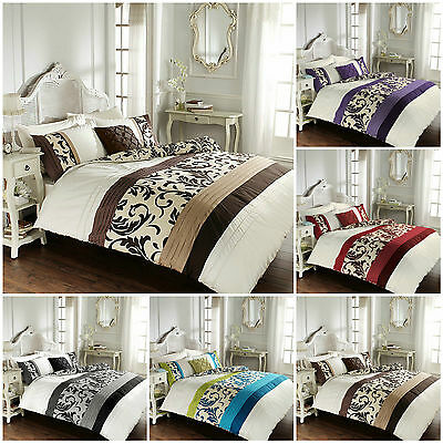 SCROLL Duvet Quilt Cover Set With Pillow Cases, Bedding Set Single Double King