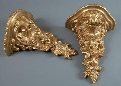 Pair of Louis XV Style Giltwood Wall Brackets Lot 158