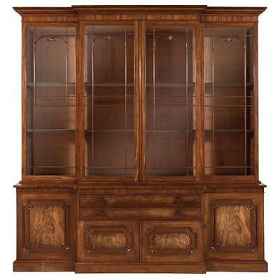 George IV Mahogany Breakfront Bookcase Cabinet Lot 774