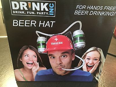Thirst Aid - Drinking Beer Hat - FOR HANDS FREE BEER DRINKING