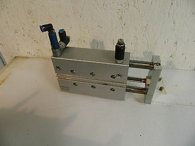 Festo Guided Air Cylinder, DFM-25-100PA-KF, 25mm Bore, 100mm Stroke, Used