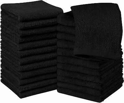 Wash cloths 24 Pack 12x12 Inch WashCloths Highly Absorbent Soft Utopia Kitchen