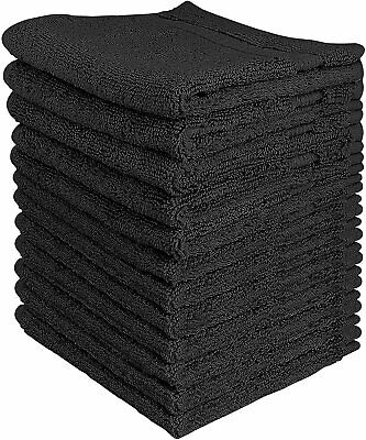 12 Pack Towel Set Luxury Cotton Washcloth 12x12 Inch Wholesale Lot Utopia Towels
