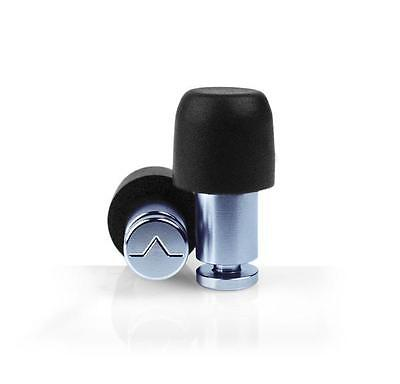 Isolate Mini Aluminium Denim Blue Ear Plugs and 3 Pair Foam Tips from Flare