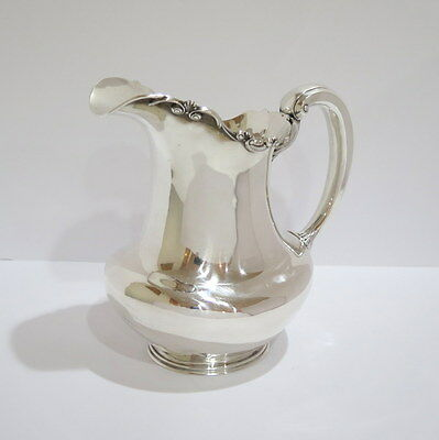 9.5 in - Sterling Silver Antique American 10 Half Pints Water Pitcher