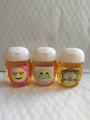 Bath & Body Works EMOJI FUN PocketBac Hand Sanitizers x 3