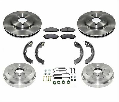 4pc Kit Rear Brake Drums Shoes Springs 4pc for Nissan Versa 1.6L Only 09-11