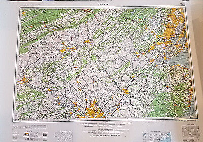 Vintage USGS Topo Map Newark New Jersey Philly NYC Trenton 1960