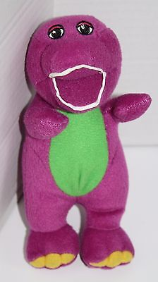 "BARNEY Singing Doll I Love You Song Small 8"" Plush Stuffed Soft Toy Sewn Eyes"