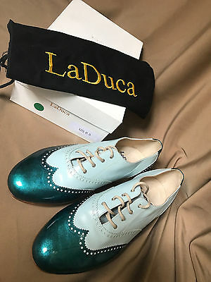 NEW! Men's LaDuca Custom Made Two-Tone Spectator Character Shoes - Size 8.5
