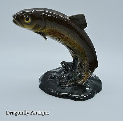 SUPERB Vintage Beswick Leaping Trout 1390 Gloss 1955-1975