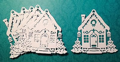 Cottage Cutz Christmas House Die Cuts (white) 6 Pieces Included