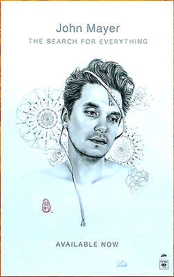 JOHN MAYER The Search For Everything 2017 Ltd Ed RARE Poster +FREE Rock Poster!