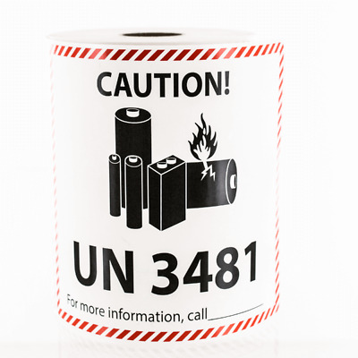 Lithium Ion Battery Shipping UN 3481 Sticker Label 2019 - Pick Quantity needed