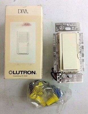 Lutron DVLV-603-L Light Almond Magnetic Low Volt 3-Way Dimmer Switch 450W NEW