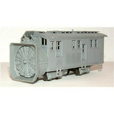 "N Scale: ""M.O.W. ROTARY SNOW PLOW"" - Kit #2705 - TICHY TRAIN GROUP"