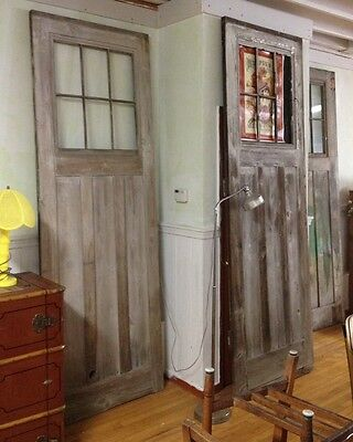 "3 Antique 8 Ft 9"" Tall Doors From Case Bros Robinson Knife Factory Industrial"