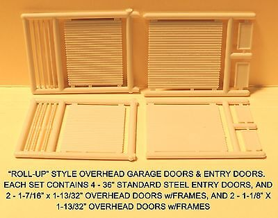 "N Scale: ""ROLL-UP"" STYLE OVERHEAD DOORS & ENTRIES by MICRO-ENGINEERING #80-204"