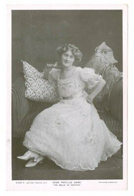 Stage And Film Actress Phyllis Dare Real Photo Postcard Free Shipping