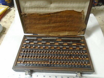 MACHINIST TOOLS LATHE MILL Machinist Mitutoyo Gage Block Set 516 903 Grade A
