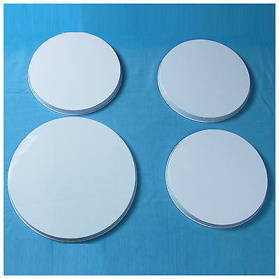 4 x White / Light Purple Stove Cover Set Home  Electric Cooker Ring Protector