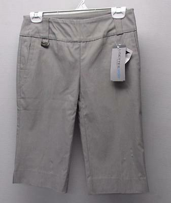 New Ladies SIZE 2 Lisette L Fit To Flatter Stretch grey Long  golf shorts
