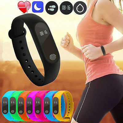 NEW Touch Heart rate Activity Tracker Fitness Wristband Step Counter Pedometer