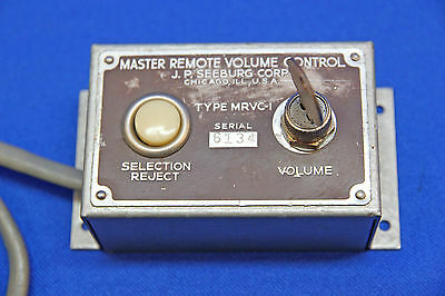 Seeburg Remote Volume Control MRVC-1 used on Models A, B, C, G, W & R Jukeboxes