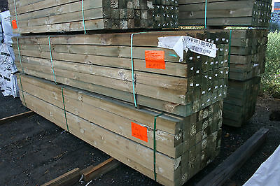 Pack Lot  100 x 100 x 2.7m Merch Treated Pine Posts - $4.00 lm  Pack # M99