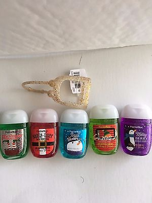 Bath & Body Works CHRISTMAS FUN 5pc Pocketbac set 29ml with Holder