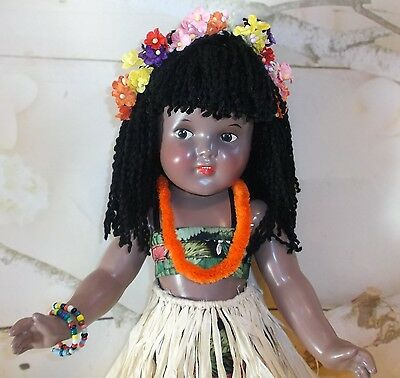 "18"" MARAMA doll Composition IDEAL DOLL 30's era Character from THE HURRICANE"